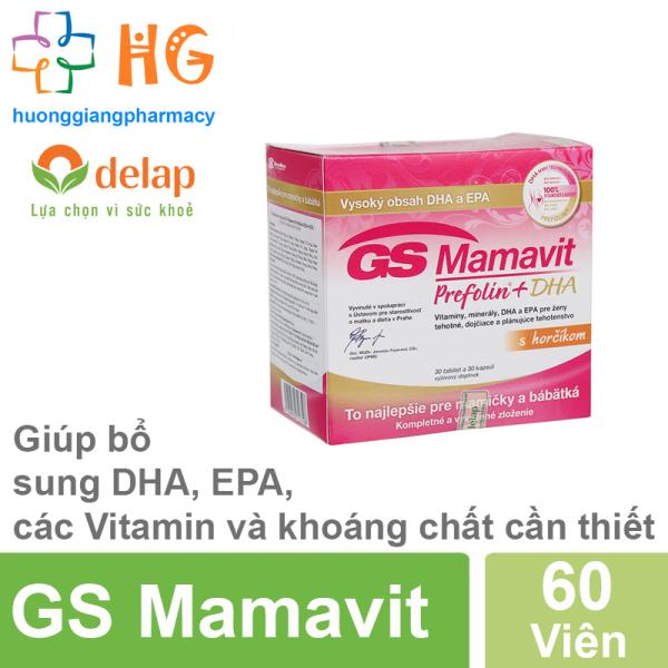 GS Mamavit Prefolin + DHA + EPA - Bổ sung dưỡng chất cần thiết cho phụ nữ mang thai và cho con bú (Hộp 60 Viên) cao cấp