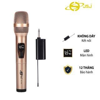 Mẫu Mới Micro karaoke không dây cao cấp JSJ-W121 tích hợp màn hình led chuyên nghiệp, công nghệ giảm tiếng ồn thông minh thumbnail