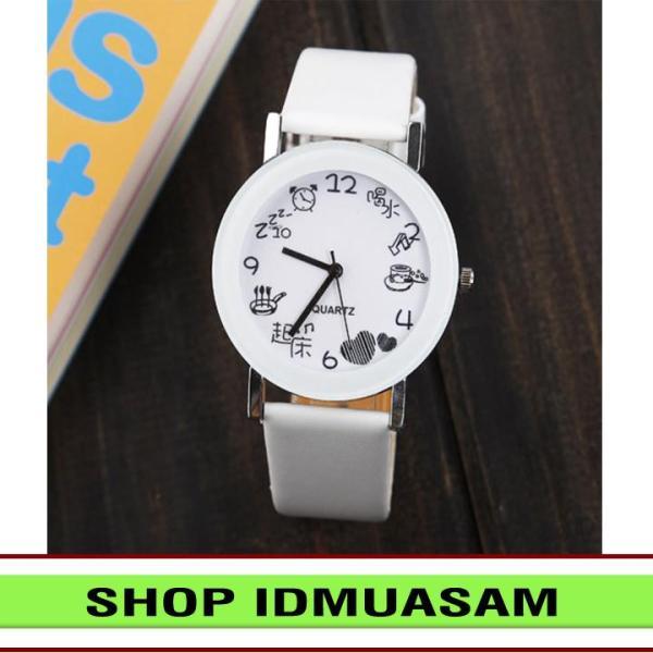 Nơi bán [Có video quay thật] Đồng hồ nam nữ dây da thời trang JIS IDMUASAM 8231 (Nhiều màu lựa chọn)