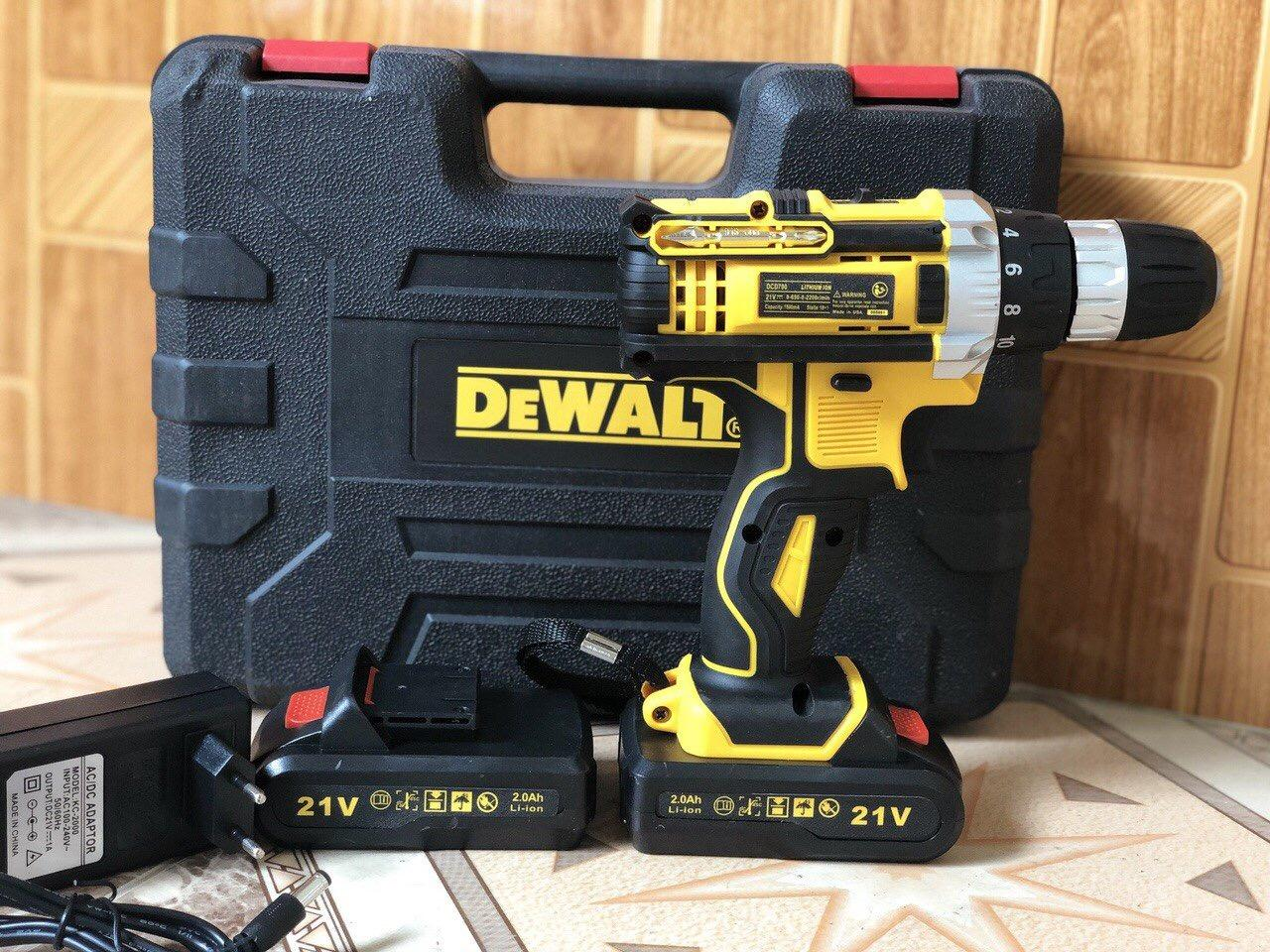 Máy khoan pin Dewal pin 21V có Búa -cực khỏe loại tốt, khoan gỗ , khoan sắt, khoan gạch men, vít ốc đa năng