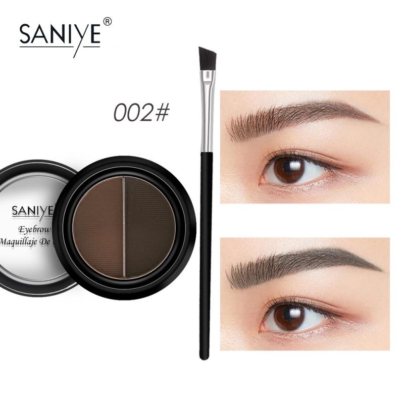 SANIYE Phấn kẻ lông mày với 1 cọ trang điểm mắt cực hot E028 - INTL cao cấp
