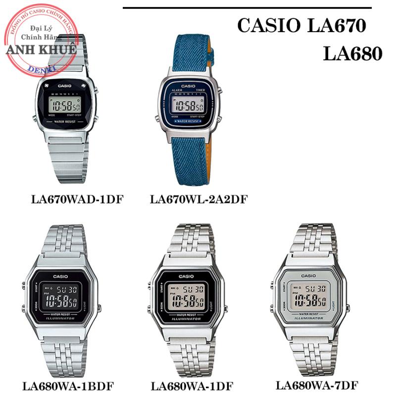 [CHÍNH HÃNG] Đồng hồ nữ dây kim loại Casio Anh Khuê LA680, LA670 Series LA670WAD-1DF, LA670WL-2A2DF, LA680WA-1BDF,...