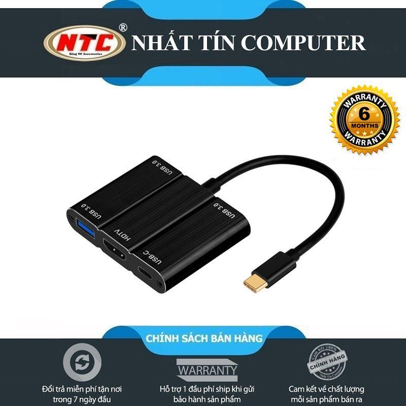 Bảng giá HUB USB TypeC ra 3 cổng USB 3.0 9509S kèm chức năng xuất HDMI - hỗ trợ chất lượng 2K/4K (đen) Phong Vũ