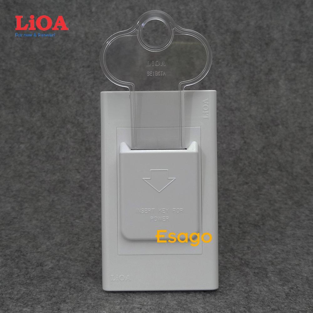 Bộ công tắc ngắt điện chìa khóa kiểu A LiOA 20A - Dùng cho nhà nghỉ, khách sạn