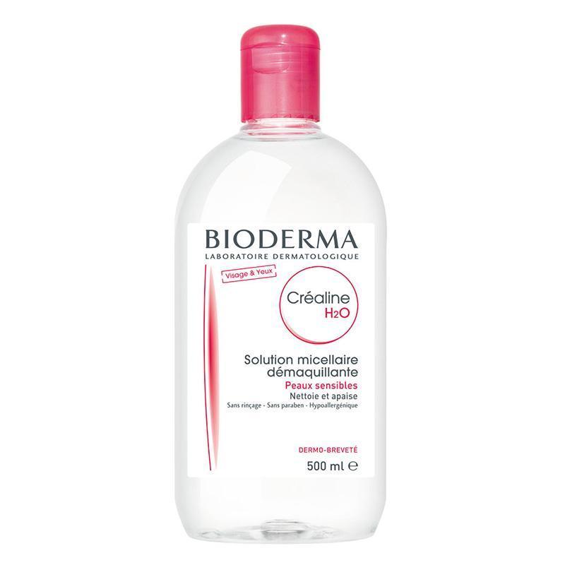 [HÀNG NỘI ĐỊA PHÁP] - Nước tẩy trang cho da thường Bioderma Sebium H20 500ml - chai lớn siêu tiết kiệm (màu hồng) - cam kết hàng thật nhập từ Pháp