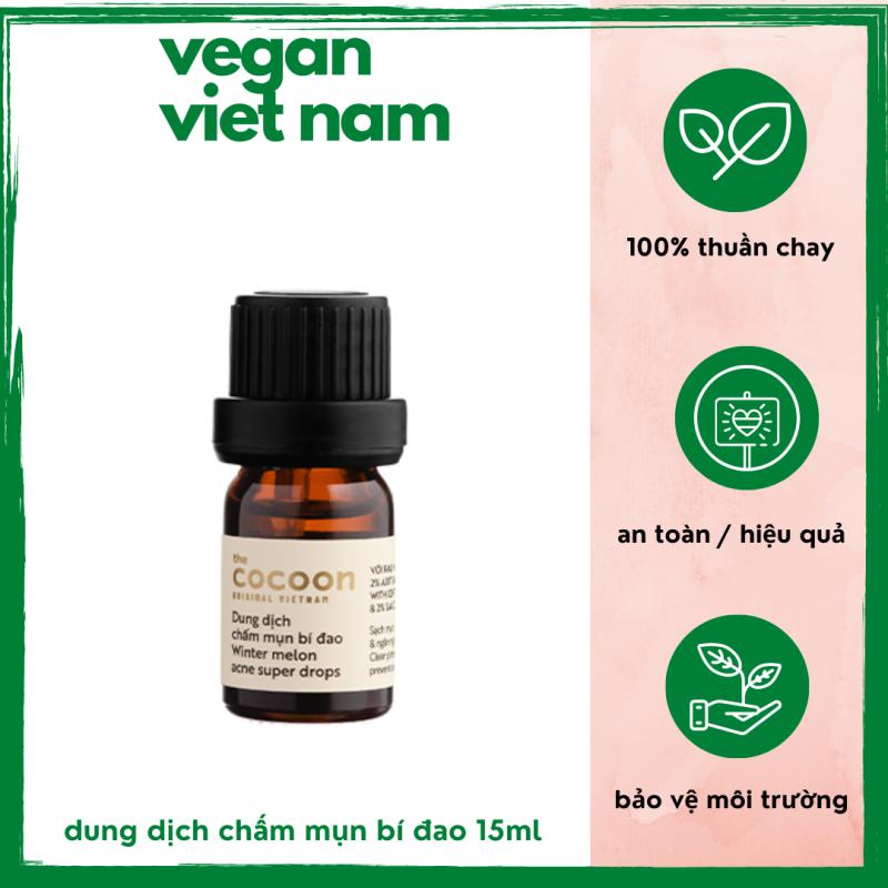Dung dịch chấm mụn bí đao, loại bỏ mụn ẩn, mụn mủ, mờ vết thâm cocoon viet nam (winter melon acne super drops) 5ml