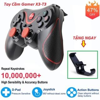 [Tặng giá đỡ điện thoại] Tay cầm gamer hỗ trợ chơi game bluetooth X3 - Tay cầm chơi gane pubg lien quân ff cho tivi box giá rẻ - Tay cầm gamepad X3 - Tay game psp xbox thumbnail