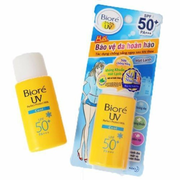 SỮA CHỐNG NẮNG BIORE UV PERFECT PROTECT MILK COOL 25ml