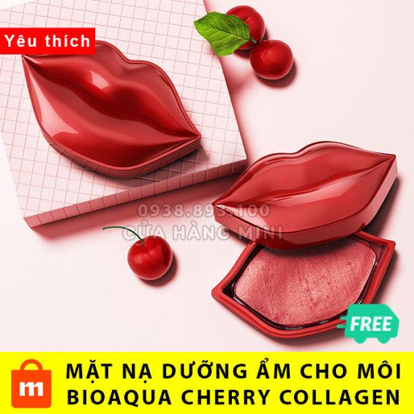 【CHÍNH HÃNG】Hộp 20 Miếng Mặt Nạ Dưỡng Môi Bioaqua Cherry Collagen