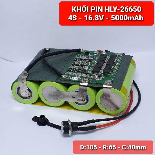 KHỐI PIN HLY-26650 -  4S-16.8V - 5.000mah Xả 25A