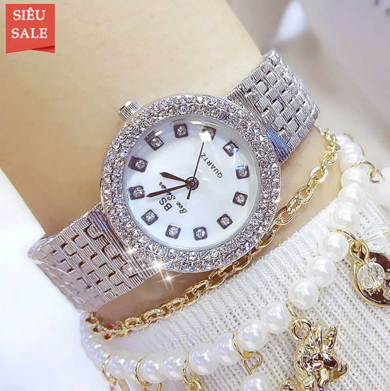 Đồng hồ nữ BS BEE SISTER Mặt Xà Cừ Sang Trọng - Tặng Kèm Pin ĐH Dự Phòng