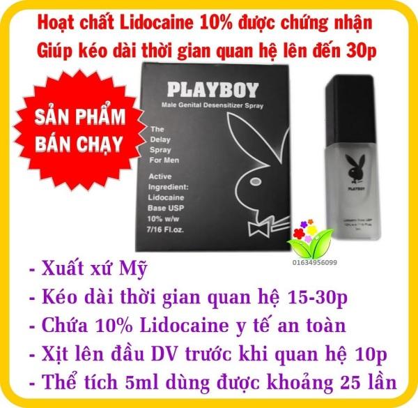 Chai xịt hỗ trợ chống xuất tinh sớm PlayBoy 5ml giá rẻ