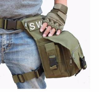 Túi đeo hông , Túi đeo ngang hông , Túi đeo đùi Swat chuyên dụng chống thấm nước du lịch phượt thumbnail