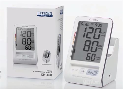 Máy đo huyết áp bắp tay Citizen CH-456 nhập khẩu