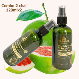 Bộ 2 Xịt dưỡng tóc tinh dầu bưởi POMELO TABAHA 120ml x2