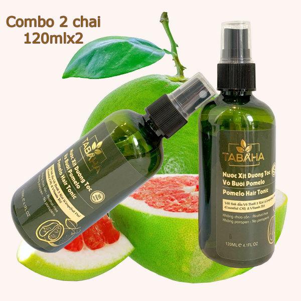 Bộ 2 Xịt dưỡng tóc tinh dầu bưởi POMELO TABAHA 120ml x2 giá rẻ