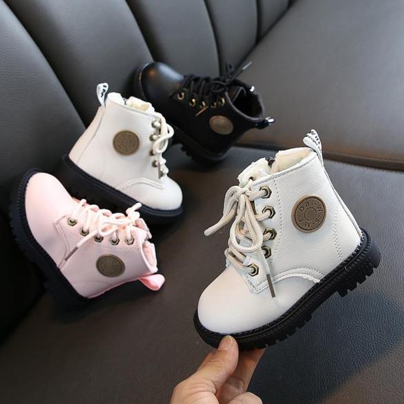 Giày boot trẻ em giày cao cổ lót lông cho cả bé trai và bé gái giá rẻ