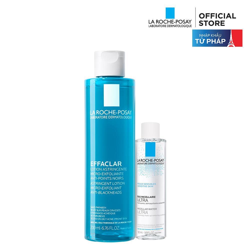 Bộ sản phẩm nước cân bằng giúp se khít lỗ chân lông và làm sạch sâu La Roche-Posay Effaclar Toner 200ml tốt nhất