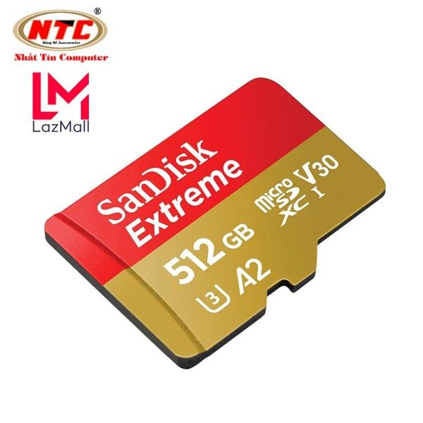 [Voucher 8% tối đa 800k cho đơn từ 150k] Thẻ Nhớ MicroSDXC SanDisk Extreme 512GB V30 U3 4K A2 R160MB/s W90MB/s (Vàng) - No Adapter - Nhat Tin Authorised Store