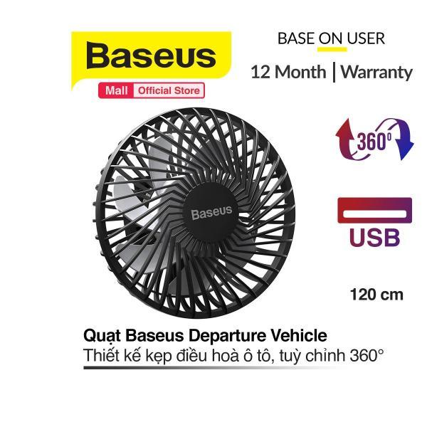 Quạt mini Baseus ( inAuto ) Departure Vehicle Fan 5V, 3 mức tốc độ, Gắn lưng ghế hoặc khe gió tiện dụng cho xe ô tô