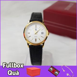 Đồng hồ nữ dây da cao cấp sang trọng R281 máy mỏng chống xước, chống nước, dây đen, dây nâu, tặng kèm 2 pin AG4, lắc tay thời trang thumbnail