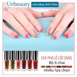 Urbeauty Mall 6pcs Nail polish lọ sơn móng tay không bóng, không bong tróc, lâu trôi, không phai màu thumbnail