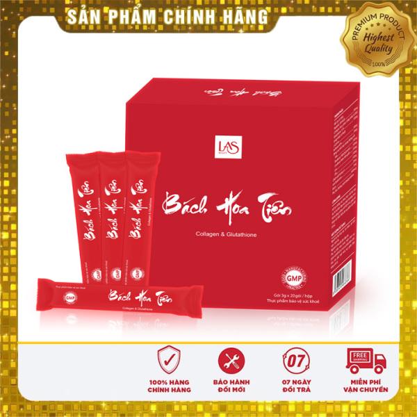 [Chính Hãng] cốm uống đẹp da Bách hoa tiên Las beauty hộp 20 gói