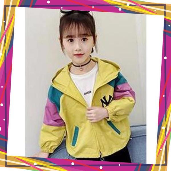 áo khoác cho bé, Áo gió 2 lớp Unisex từ 5 đến 14 tuổi M853