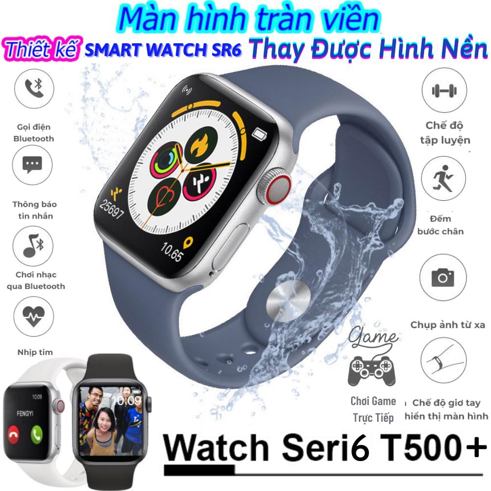 [BẢN NÂNG CẤP] ĐỒNG HỒ THÔNG MINH T500 PLUS - SMART WATCH SERI 6 T500 PLUS - Thay được hình nền tùy ý - Gọi điện nghe nhạc trực tiếp - Chơi Game -Thiết kế smart watch seri 6 tổ ong- Chống nước - 100% Tiếng Việt- Thông báo tin nhắn