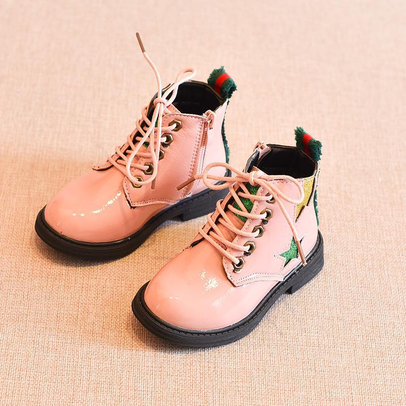 Mùa Đông 2018 Mẫu Mới Giày Trẻ Em Trẻ Em Khởi Động Chàng Trai Và Cô Gái Bốt Hai Bông Nhung Bốt Ngắn Bông Trẻ Em Giày