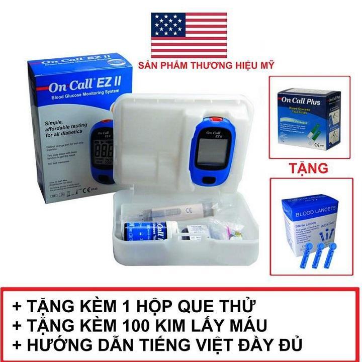 Máy đo đường huyết On Call EZ II TẶNG KÈM 25 Que thử nhập khẩu
