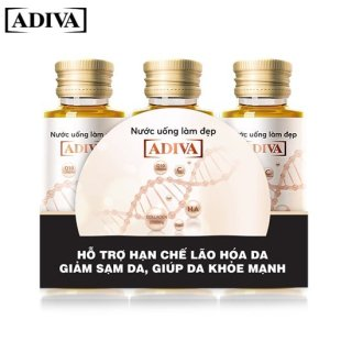 3 lọ Nước uống làm đẹp Collagen ADIVA - Dưỡng chất uống làm đẹp da thumbnail