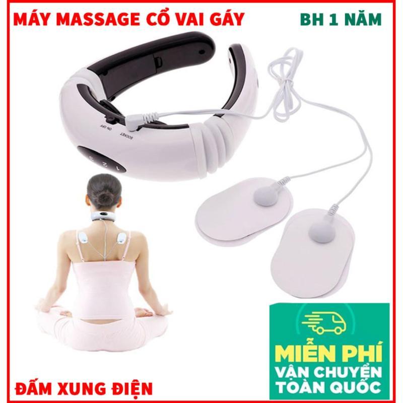 Máy Massage Cổ và Vai Gáy Xung Điện, Máy Điều Trị Xung Điện - Máy Massage Chữ C 2 trong 1 RUNG VÀ XUNG ĐIỆN TỪ TRƯỜNG giảm cơn đau Cổ, Vai, Gáy hiệu quả - Bảo hành 1 đổi 1 trong 1 năm