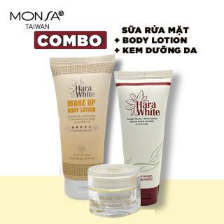 Combo 3 sản phẩm kem dưỡng da mặt, kem dưỡng body và sữa rửa mặt dưỡng da thumbnail