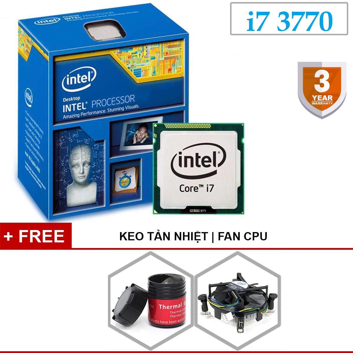 Giá Bộ vi xử lý dùng cho PC (máy tính để bàn) Chip Intel Core i7 3770 3.40GHz(up to 3.90GHz, 4 lõi,8 luồng), Bus 1333/1600MHz, Cache 8MB. Kèm quạt chip và keo tản nhiệt loại tốt. Bảo hành 36 tháng 1 đổi 1 cho cpu