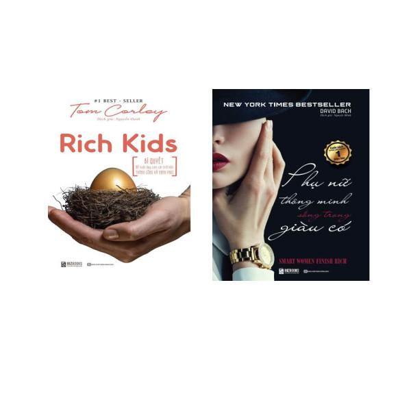 COMBO 2 Cuồn RICH KIDS; Bí Quyết Để Nuôi Dạy Con Cái Trở Nên Thành Công Hạnh Phúc ,Phụ Nữ Thông Minh Sống Trong Giau Có (tặng kèm bút viết )