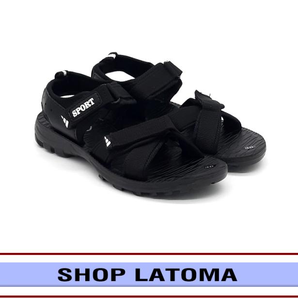 Giày Sandal nam nữ quai dù, giày xăng đan có quai hậu, học sinh sinh viên mang đều phù hợp và độc đáo vận động du lịch thoải mái kiểu dáng cổ điển thời trang cao cấp Latoma TA4781 (Đen) giá rẻ