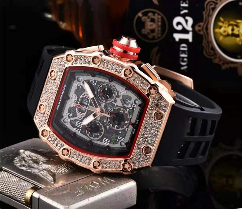 RICHARD MILLE_Rolex Brand Mens Top Grade Business Tungsten Steel Strap Waterproof Luminous Sport Quartz Wristwatch bán chạy