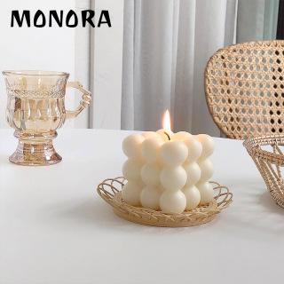 Nến thư giãn hình khối MONORA C1 trang trí không khói sáp decor phụ kiện trang trí phòng - candle decor thumbnail