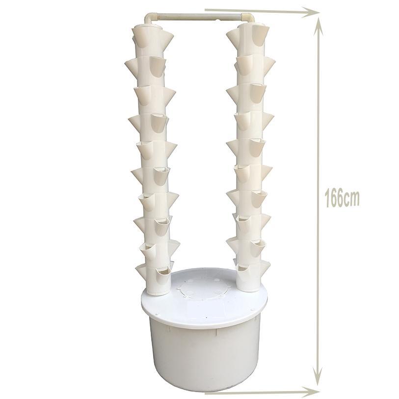 Tháp thủy canh khí canh 72 rọ - (Trụ, rọ, bơm, ống, hẹn giờ điện tử, dinh dưỡng, hạt giống)