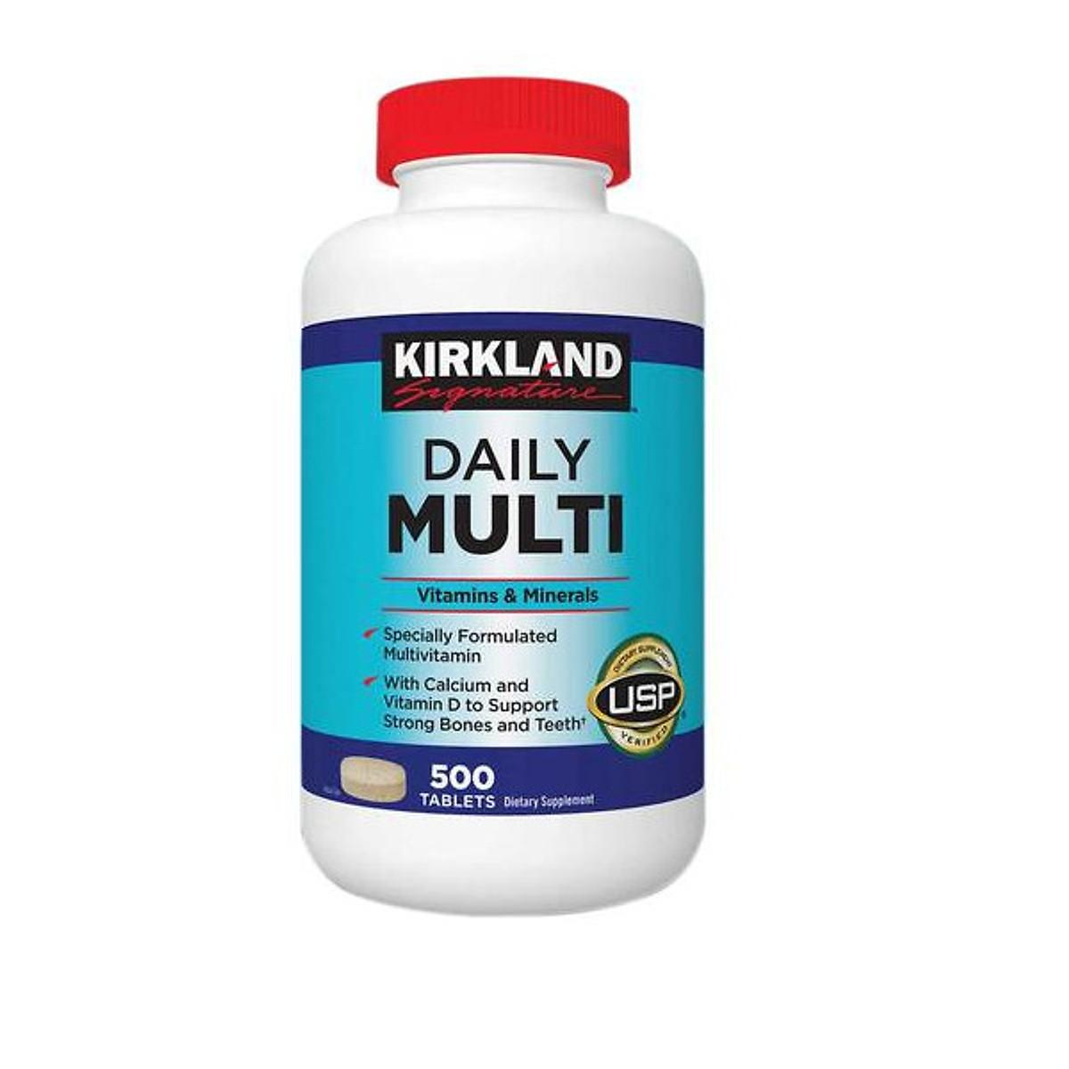 Thưc phẩm bổ sung Vitamins Tổng hợp Kirkland Daily Multi Vitamins (500 Viên) - Nhập khẩu Mỹ nhập khẩu