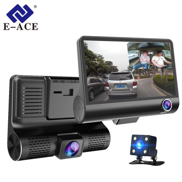 E-ACE B28 Car Dvr 4 Inch 3 Camera? Dashcamam FHD 1080P Tự động thu trình hình dáng đường ray với máy ảnh xem mặt sau