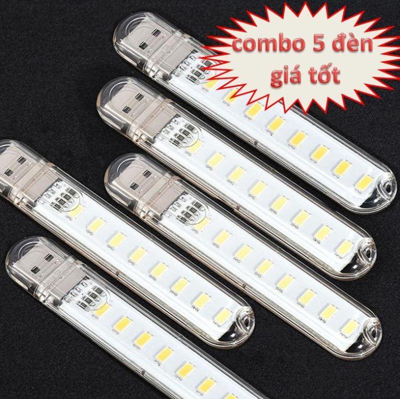 Bảng giá Đèn usb 8 LED siêu sáng ( combo 5 đèn) Phong Vũ