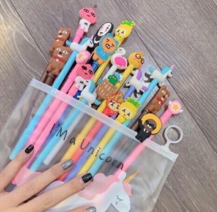 Mua combo 20 bút siêu rẻ cực chất hình thú ( tặng kèm túi đựng bút siêu cute)