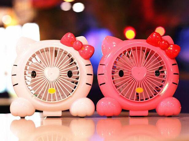 Quạt tích điện mini gấp gọn hình thú cực dễ thương và vô cùng tiện ích, quạt để bàn, quạt...