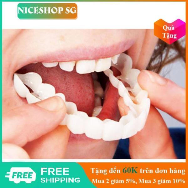 Răng giả Snap On Smile hàm trên hàm dưới thiết kế để vừa khít trên răng của bạn để sửa chữa các lỗ hổng nha khoa NiceShop - KD117