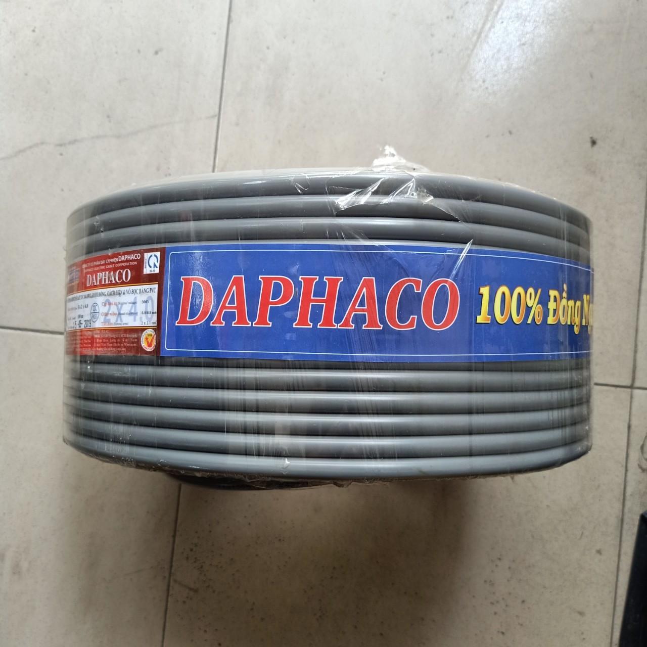 Bộ 50 mét dây cáp mềm tròn FA 2x4.0 Daphaco