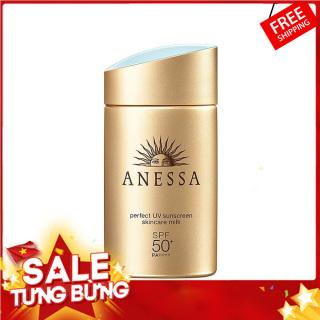 [HOT SUMMER] . Kem Chống Nắng Anessa Perfect UV Sunscreen Skincare Milk Spf 50+ Pa++++ (60ml) HOT HOT HOT -Sản Phẩm Không Thể thiếu Với Chịu Em Mùa hè Này Dưỡng da và bảo vệ da tối đa với kết cấu mỏng nhẹ, khô ráo. thumbnail