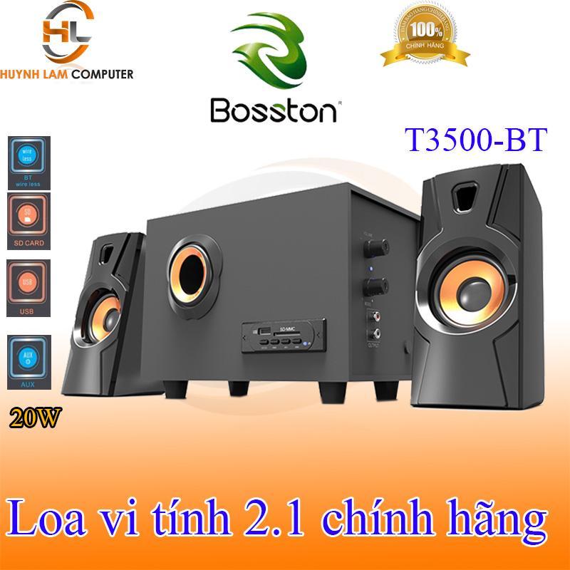 Loa vi tính 2.1 Bosston T3500-BT tích hợp Bluetooth Usb thẻ nhớ âm thanh mạnh mẽ sôi động như ở bar VSP phân phối Nhật Bản