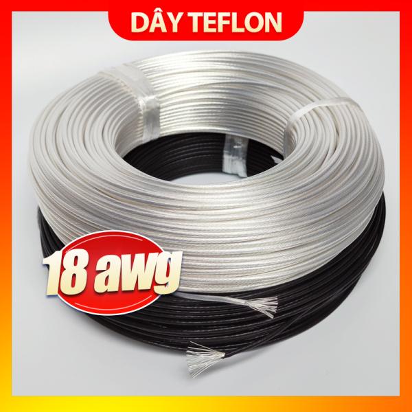 Dây điện mạ bạc vỏ teflon 18AWG (Giá 1 mét)